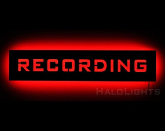 Lighted Recording Warning Sign - LED Backlit On Air Sign for Recording Studios
