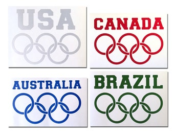 Reflective Olympic Die-Cut Decal