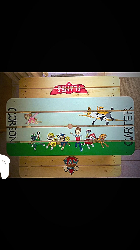 Paw Patrol Picnic Table-Custom Picnic Table-Shower gift-Birthday gift ...