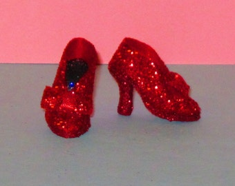 Cissette RUBY SLIPPERS PUMPS Shoes for Cissette, Wizard of Oz, Tonner Tiny Kitty, Miss Revlon 10 inch