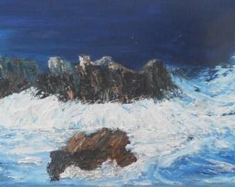 Stormy Breton coast