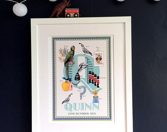 Personalised Letter 'Q' Print