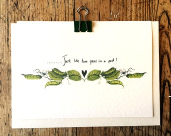 Peas in a pod Valentines/Love card