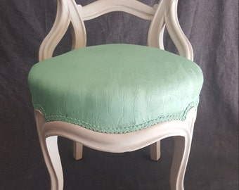 Mint Green Tufted Accent Chair