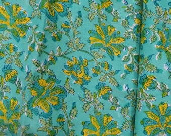 Turquoise Fabric By The Metre