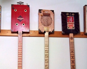 15-Voice Custom Cigar Box Guitar / CBG -- made to your specifications