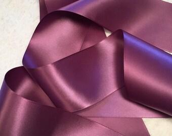 Purple Satin Ribbon/Amethyst Wedding Sash/Country Wedding Belt/Purple Bridal Belt/Rustic Bridal Belt/Purple Ribbon Sash/Amethyst Ribbon