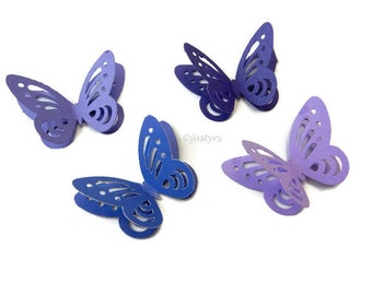 3D Purple Butterfly Confetti, Table Decor, Paper Butterflies, Party Decor, card making, Butterfly cake decor, Baby Shower Decor