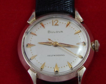 Vintage Bulova 17 Jewel Automatic Wrist Watch 1963