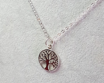 Tree of life pendant, Sterling silver necklace, minimalist necklace, gift necklace