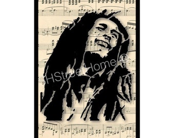 Bob Marley original print wall decore, wall art