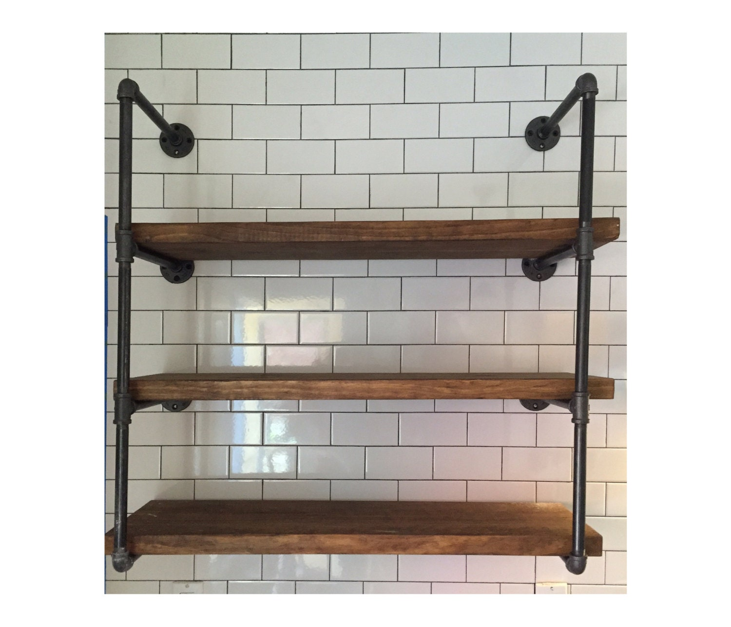 Industrial Wall Unit 36 Wide With Three Shelves Urban