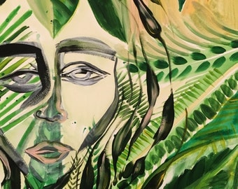 MODERN BOTANICALS: MARA Original Painting on Paper by Rugged and Fancy
