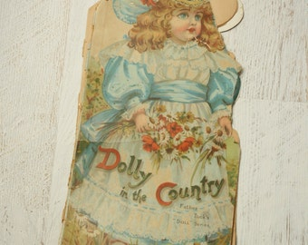 Dolly in the Country | vintage Father Tuck 1900s book