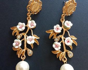 Baroque earrings