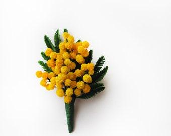 brooch mimosa.