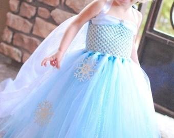 Elsa Princess Dress- Disney Princess Dress - Princess Tutu Dress - Disney Costume- Elsa Costume- Frozen Dress- Halloween Costume- Elsa dress