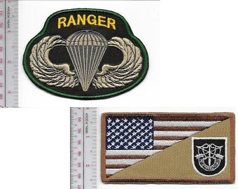 Ranger US Army 5th Special Forces Group Airborne & Ranger Parachutist Wings