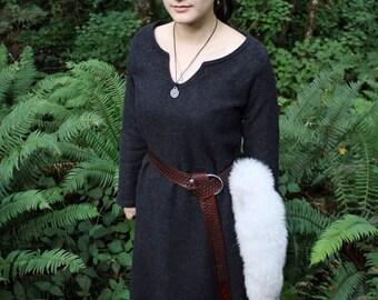 Wool Viking Dress Garb, Serk, Heavy Weight, Norse, SCA, HEMA, LARP Comic Con Knotwork Trim Celtic Slavic Camping Reenactment