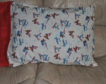 Winter sports pillowcase