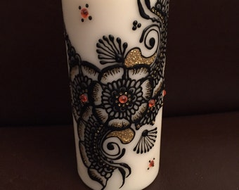 Tall Henna Candle