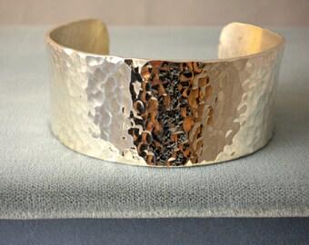 Bracelet / Cuff / Sterling Silver Bracelet / Hammered Sterling Silver Cuff / Woman's Bracelet / Birthday Gift / Graduation Gift
