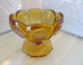Fostoria Amber Coin Glass Open Jam/Jelly Dish