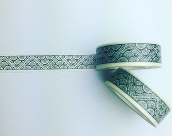Black and white abstract pattern washi tape