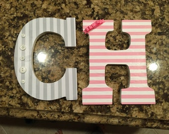 """16"""" paper mache decorated letters"""