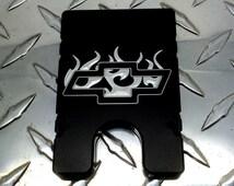 Chevrolet Bowtie Emblem, Billetvault Aluminum Wallet, RFID Protection