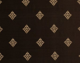 BEACON HILL Regents Silk Grandeur Embroidered Fabric 5 Yards Jet