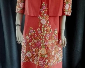 Stunning dress and jacket set from the 1960's.