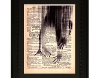 """Breaking Through"""".Dictionary Art Print. Vintage Upcycled Antique Book Page. Fits 8""""x10"""" frame"""