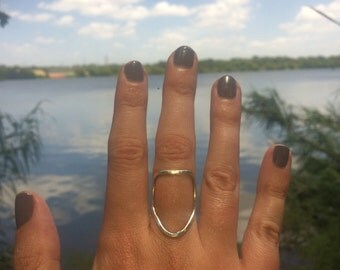Sterling Shield Ring Size 7.5