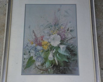 1960s framed Vernon ward country floral print