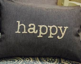 Word Pillow - Happy