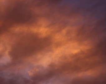 Cloud study 3 Sunset Print Photograph