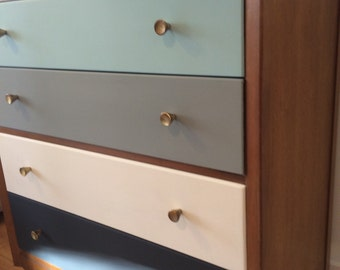 SOLD Chest of drawers grey blue