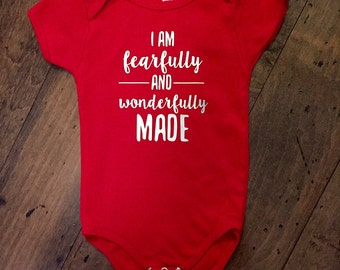 I am fearfully and wonderfully made bodysuit