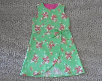 Puperita Pattern, Girls Clothing, Girls Dress, Spring/Summer dress, Size 4 5 6 years.