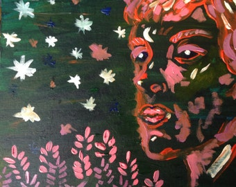 Green Girl (Original Painting)