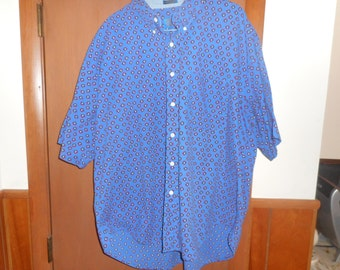Men's Pendleton Blue Short Sleeve Shirt Size XL Nice