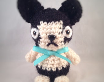 Canis Lupus Minor, the custom handmade puppy with heart. A caricature of your pup, individually crocheted likeness based on a photo..