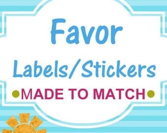 Matching Favor Stickers/Labels - Created to match any invite from our store