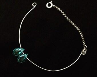 mouving aquoi marine blue bracelet