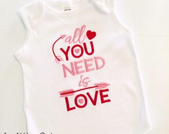 Valentine's day top - All you need is love,  love top