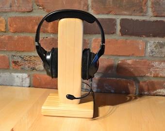 Headphone wood stand