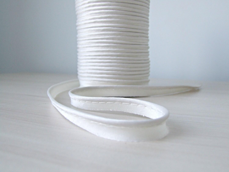 White Satin Piping Trim Sewing Piping Pillow Cord Piping