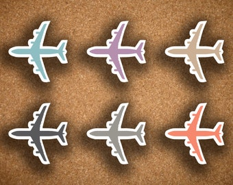 Airplane, Flight, Travel Icon Planner Stickers for Inkwell Press IWP-DCAP1