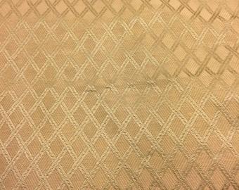 Vintage Upholstery Fabric Gold. 1/2 yd. Diamond Fabric. Upholstery Fabric. Harlequin Fabric. Basketweave Fabric Home Decor